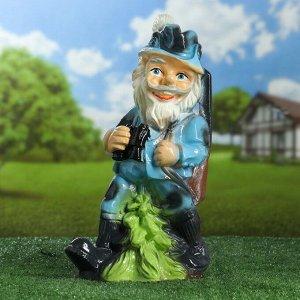 """Садовая фигура """"Охотник в шляпе с пером"""", разноцветный, 42 см, микс"""
