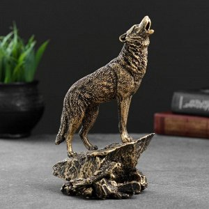 """Фигура """"Волк"""" бронза. 10х11х20см"""