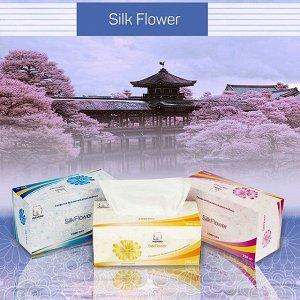 Салфетки в коробке выдергушки INSHIRO SilkFlower 2-х слойные, комфорт-без запаха (200шт)