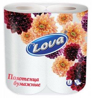 """Полотенца бумажные """"LOVA"""" белые, двухслойные 2шт (белая)"""