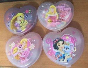 """Набор ластиков в сердце """"Принцессы"""""""