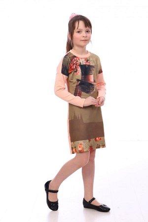 Платье Характеристики: Состав- 55%хлопок, 40% п.э., 5% лайкра; Материал: футер двухнитка Платье прилегающего силуэта, со спущенным плечом. Длина платья выше колен.