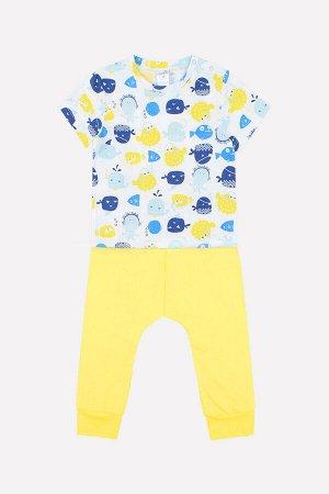 Комплект для мальчика Crockid К 2564 смешные рыбки + желтый