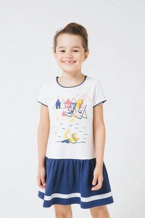 Платье(Весна-Лето)+girls (сахар, ультрамарин к243)
