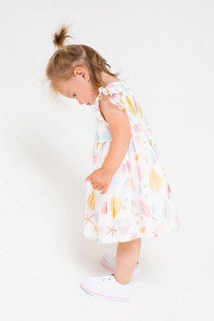 Платье Цвет: сахар, морская шкатулка к241; Вид изделия: Трикотажные изделия; Полотно: Супрем; Рисунок: сахар, морская шкатулка к241; Сезон: Весна-Лето; Коллекция: №241 Каникулы на море Нарядное плать