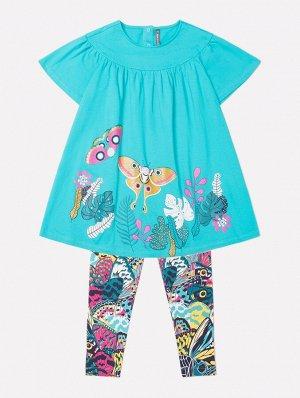 Комплект для девочки Crockid КР 2651 темный минт + крылья бабочек к239