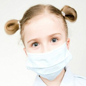 Защитная медицинская маска для лица детская 10 шт. №1