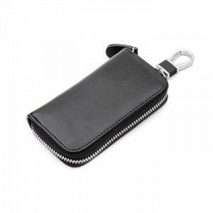 Ключница Nihonbashi Multicase черная, 11.8*6.8 см, 6 ключей, 2 подвеса-кольца, усиленный карабин