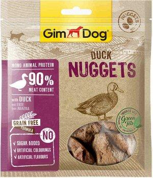 """GimDog дополнительный корм (лакомство) утиный для собак - """"наггетсы"""" 55 г"""