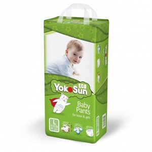 YokoSun детские подгузники-трусики ECO размер L (9-14кг.) 44шт. 5302 (1/4)