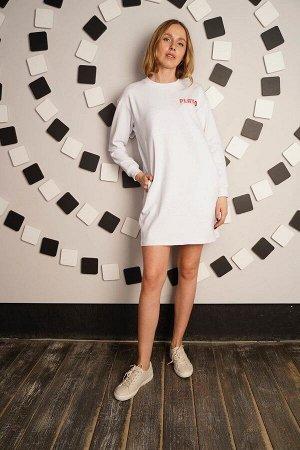 Платье в спортивном стиле - PLAY - 444 - белый