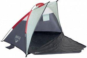 Палатка Палатка двухместная  200х100х100см Bestway 68001 изготовлена из усиленного воздуха проницаемого полиэстера. Каркас палатки сделан из высокопрочного эластичного стеклопластика. Дверь встроенная