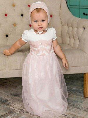 """Крестильное платье """"Мария"""" с чепчиком"""