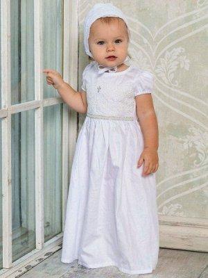 Крестильное платье с чепчиком