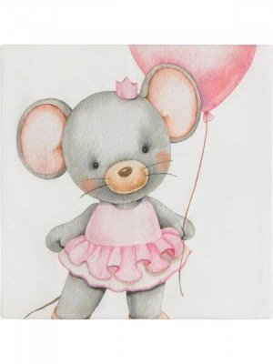 """Трикотажный плед """"Мышка с сердечком"""""""