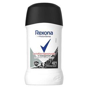 Део стик REXONA 40мл Антибактериальная+ Невидимая на черном и белом