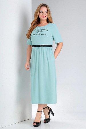 Платье летнее из ткани с эффектом легкого крэша