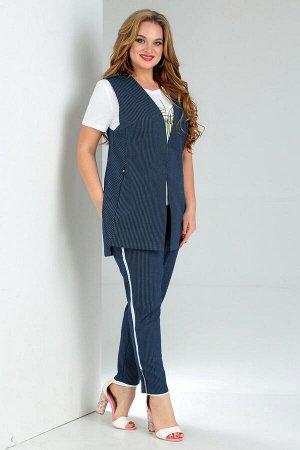 Комплект-тройка жилет, блузка и брюки