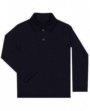 Синяя рубашка-поло для мальчика Цвет: тёмно-синий