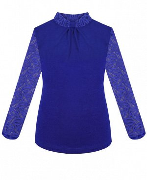 Синяя блузка для девочки Цвет: синий