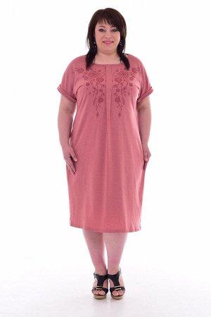Платье женское 4-67 (сухая роза)