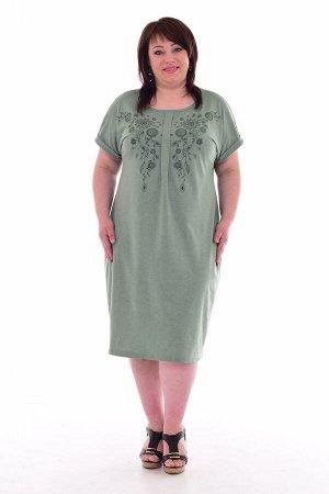 Платье женское 4-67б (зелёный)