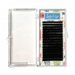 Черные ресницы Lash&Go микс 0,07/C/ (16 линий)