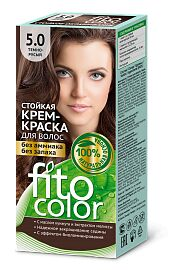 """Краска-крем д/волос """"Fitocolor"""" стойкая т.5.0  Тёмно-Русый 115 мл арт.4844 /20/"""
