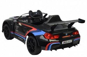 Машина на аккумуляторе для катания детей 6666R BMW (черная)