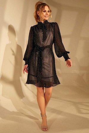 Платье Golden Valley Артикул: 4670 черная_в_горох