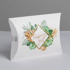 Коробка складная фигурная «Тропический подарок»