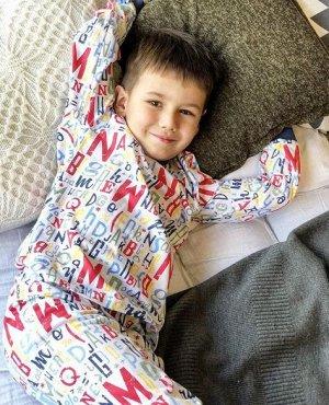 Пижама  для мальчика(футболка длинный рукав,штаны)