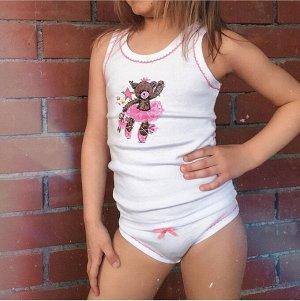 """Комплект для девочки """"Сладкие Мишки"""" (майка, трусики)"""