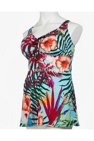 318001 цветы платье (66-74) Купальник