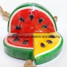 Тайское фруктовое мыло - Арбуз