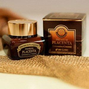 Крем для лица с плацентой 3W Clinic Premium Placenta Intensive Cream 50 гр (СТЕКЛО), ,
