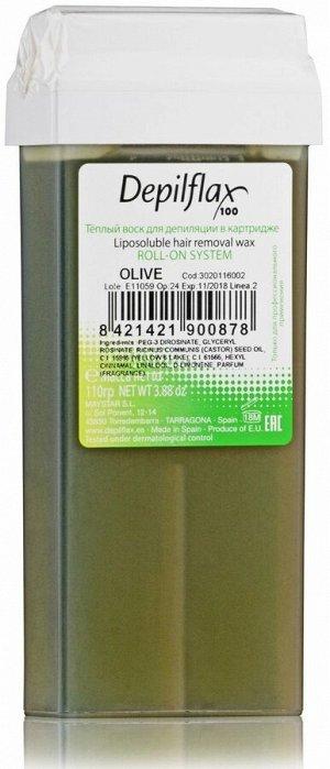 Воск в картридже, 110 гр., цвет ОЛИВА, Depilflax