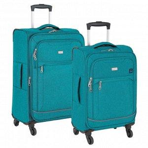 Чемодан Основное отделение чемоданов закрывается на молнию. Впереди два кармана и боковой карман на молнии. Четырёхколёсный чемодан более маневренный  и удобный по сравнению с двухколёсным - 4 колеса