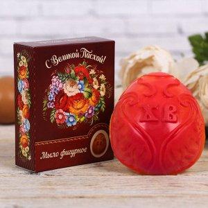 Пасхальное мыло в форме яйца «Цветочная»