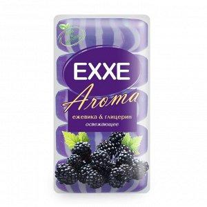 """Крем+мыло Exxe Aroma глицериновое """"Ежевика & глицерин"""", фиолетовое полосатое, 5 шт*70 г"""