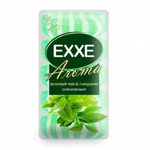 """Крем+мыло Exxe Aroma глицериновое """"Зеленый чай & глицерин"""" зеленое полосатое, 5 шт*70 г"""