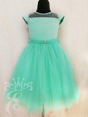 Платье нарядное Цвета мяты 91076ПМт