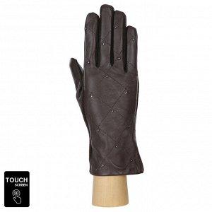 Перчатки, комбинированная кожа, Fabretti 3.26-2 chocolate