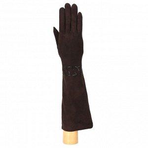 Перчатки, натуральная кожа, Fabretti 9.88-2 chocolate
