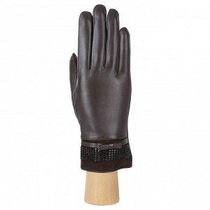 Перчатки, натуральная кожа, Fabretti 15.18-2 brown