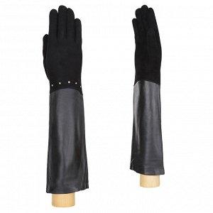 Перчатки, кожа, FABRETTI 12.73-1 black