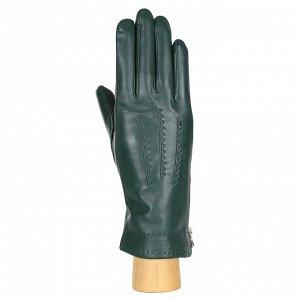 Перчатки, кожа, FABRETTI 12.71-15 green