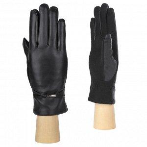 Перчатки, комбинированная кожа, FABRETTI 33.1-1 black