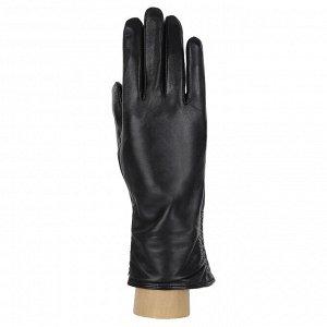 Перчатки, кожа, FABRETTI 12.25-1s BLACK