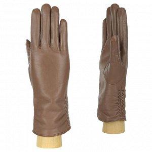 Перчатки, натуральная кожа, Fabretti 12.25-22s dark beige
